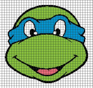 Home / Cartoons / Teenage Mutant Ninja Turtles – Leonardo (Chart/Graph AND Row-by-Row Written Crochet Instructions) – 01  Teenage Mutant Nin...