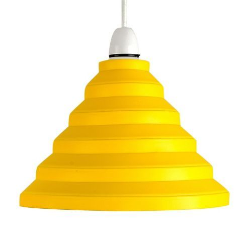Modern Ripple Effect Silicone Ceiling Light Shade Yellow