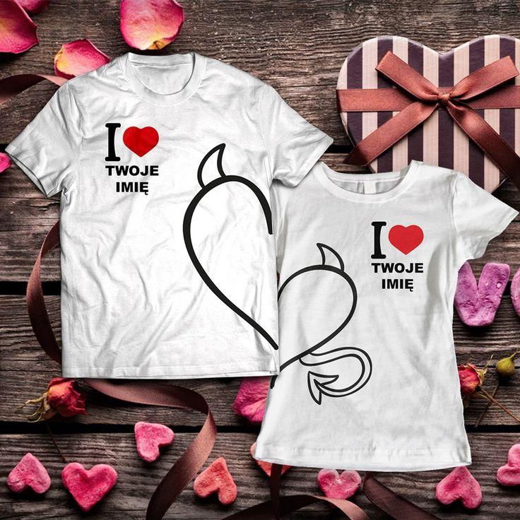 Dwa diabełki. Koszulki dla zakochanych z motywem przygotowanym na Walentynki!