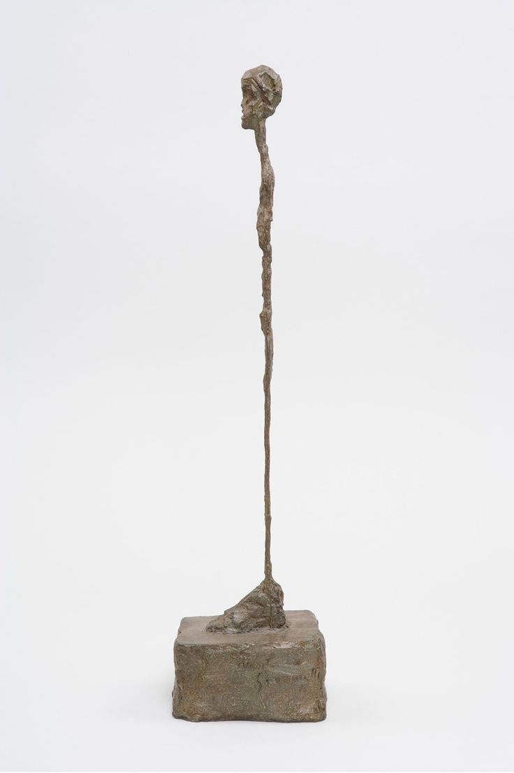 joereorda:  ALBERTO GIACOMETTI [Femme debout], c. 1961 Bronze 17 7/8 x 3 3/16 x 4 7/16 inches (45.4 x 8.1 x 11.2 cm) Ed. of 8, cast in 1993 ...