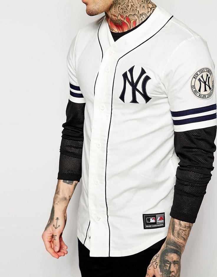image 3 of majestic new york yankees retro baseball jersey