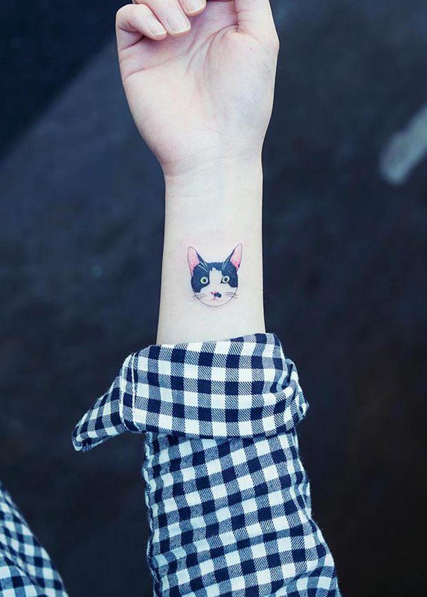 Na Coréia do Sul, tatuagens de gatos são a maneira mais adorável de quebrar a…