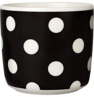 Marimekko Pallo Black and White Cup - contemporary - cups and glassware - by Crate&Barrel