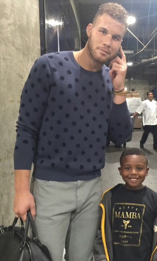 Blake Griffin. And a kid after my own heart...wearing a Kobe shirt!