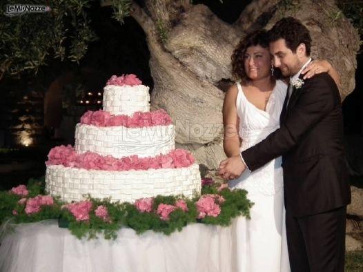 http://www.lemienozze.it/gallerie/torte-nuziali-foto/img6176.html Il momento del taglio della torta nuziale