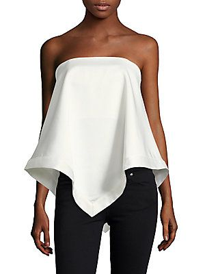 C/MEO Sunset Soon Asymmetrical Crepe Top