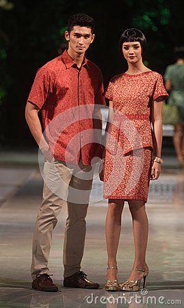 Couple in batik.elegant