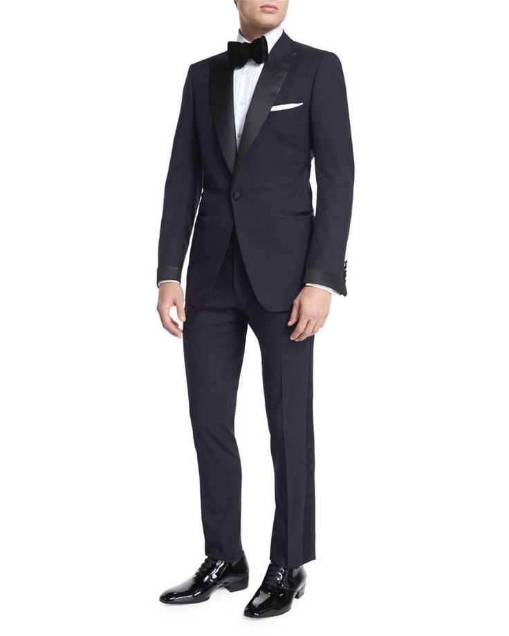 Details About Tom Ford Buckley Base Peak Lapel 100 Wool
