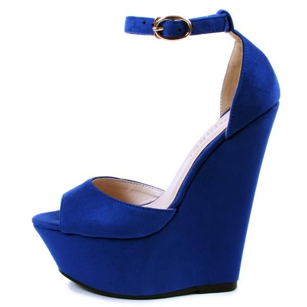 Синее туфли на платформе