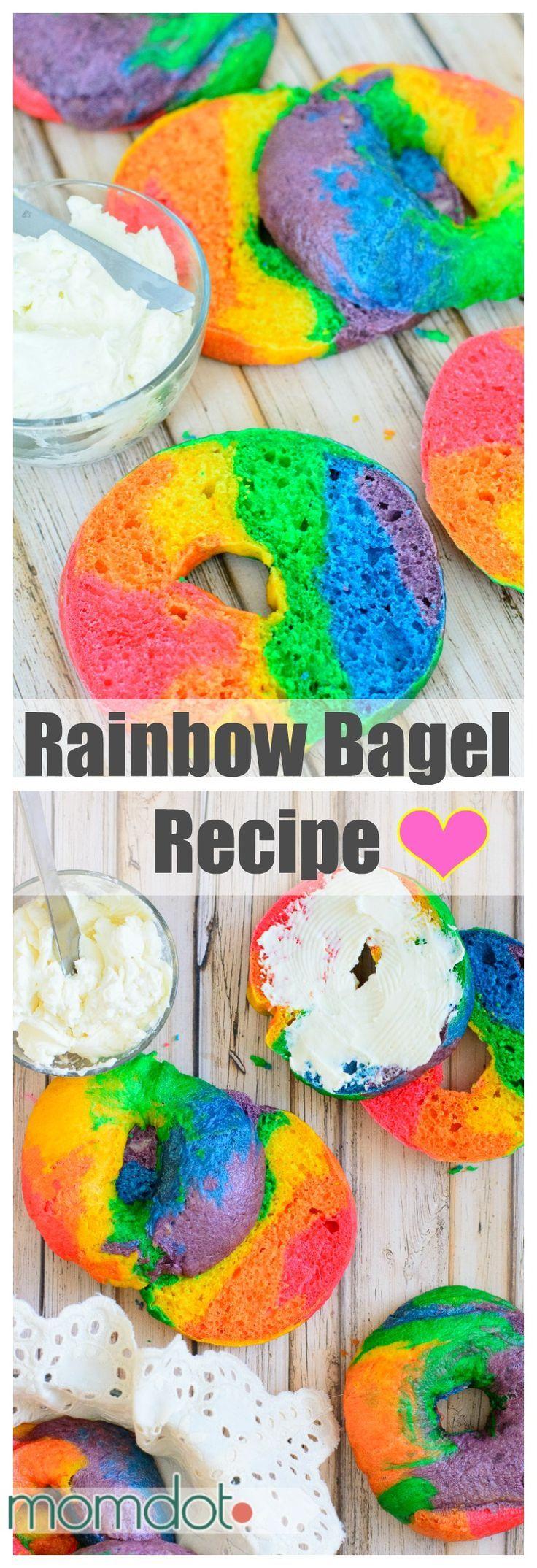 Rainbow Bagel Recipe: How to make Rainbow Bagels!
