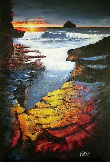 Sunset at Gull rock