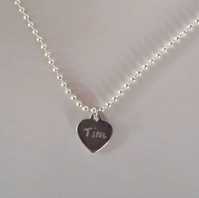 Necklace with engraving - Gegraveerde ketting