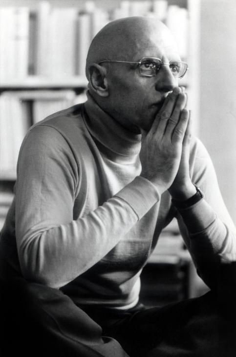 Michel Foucault, by Roland Allard 1977