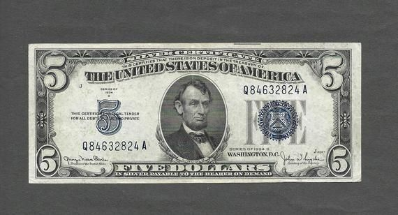 certificate dollar 1934