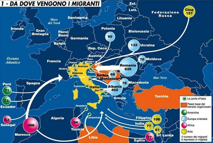 Da dove arrivano i migranti secondo la rivista di geopolitica Limes