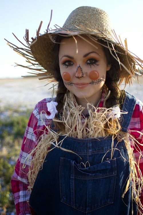Cool Halloween Scarecrow costume idea. You can find some of these items at your…