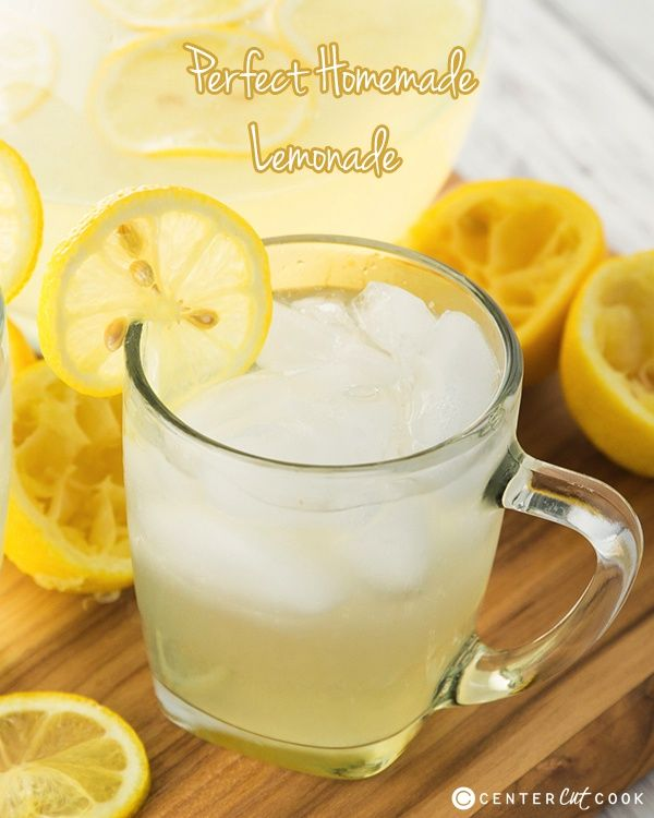 Perfect Homemade Lemonade | CenterCutCook.com