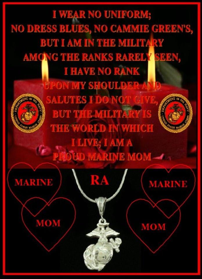 I AM a Marine Mom.