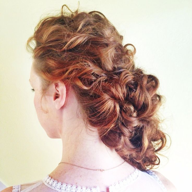 Sideswept updo by Heather Chapman. Gorgeous wedding hair.