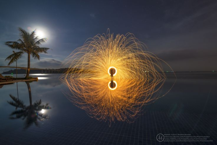Photograph Moon VS Steel Wool by Mardy Suong Photography on 500px