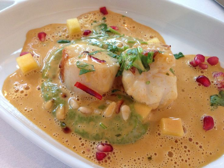 Scallop and Monk Fish in Lobster Cream sauce, Kocherie ...
