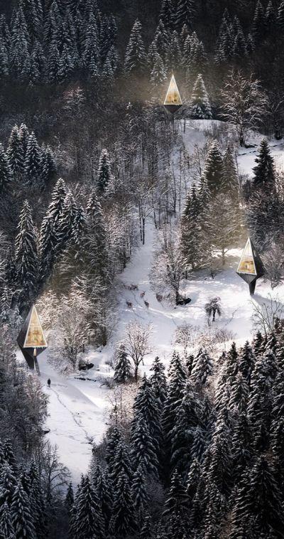 Simbiose Primeval (Single Pole House) é um projeto do estudante de arquitetura e designer de interioresKonrad Wójcik(Dinamarquês) que visa instalar espaços de vida nas florestas sem prejudicar a …