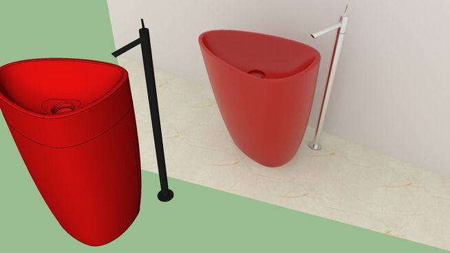 Monoblock Washbasin / Bocchi Etna Lavabo / Sink - 3D Warehouse