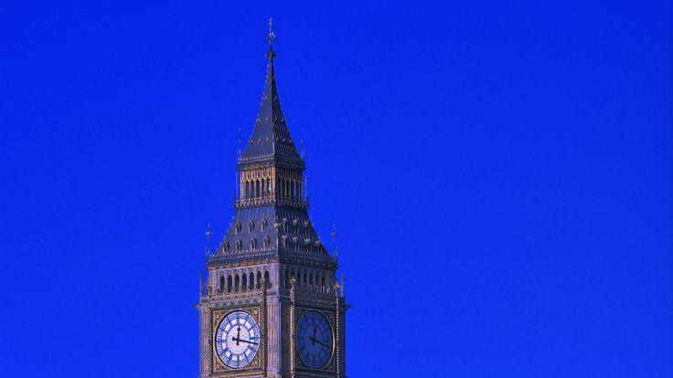 画像素材960x540:ロンドン | 100 | ウェストミンスター宮殿時計塔