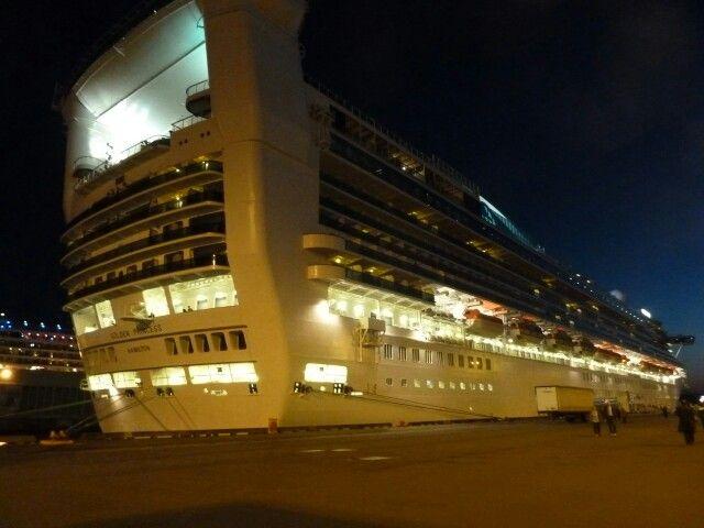 Golden Princess docked in Victoria, BC