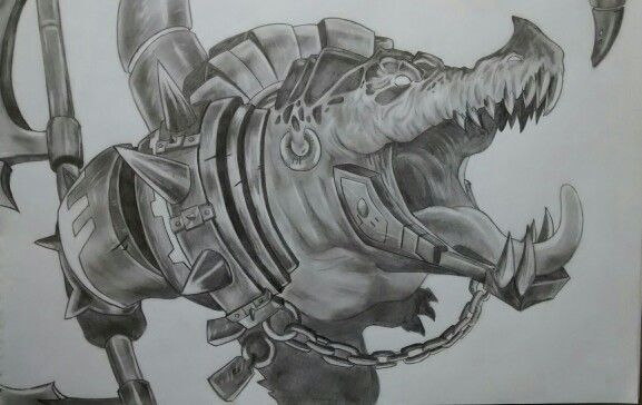 #renekton #leagueoflegends #blancoynegro