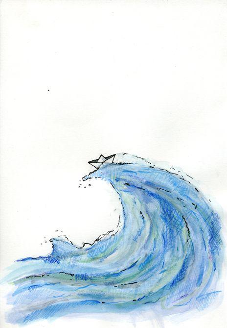 dibujo barco de papel en el mar - Buscar con Google