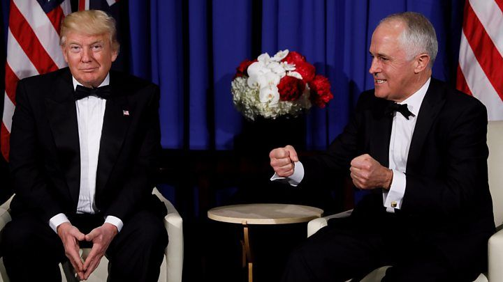 Australian PM Turnbull mocks Trump in leaked audio - BBC News