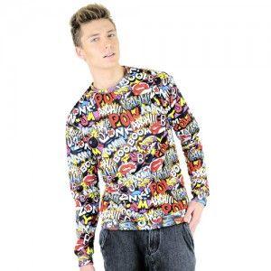 Bluza Oversize Hipster z nadrukiem KOMIKS unisex