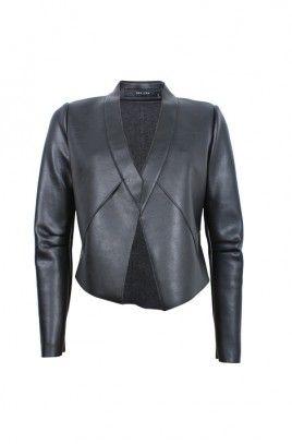 Rae Leatherette Jacket-BLACK-8