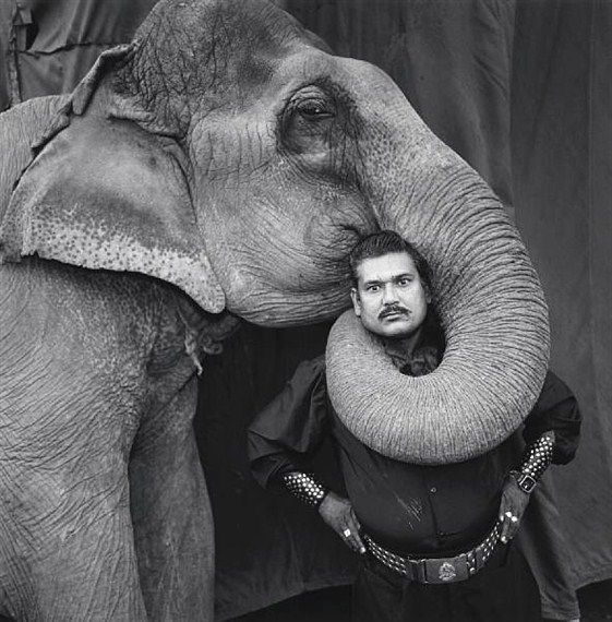 The Indian Circus of Mary Ellen Mark became my inspiration for my undergrad production thesis on Perya (circus in the Philippines). From her set of photos this one is my favorite, the photo of an animal trainer in the circus with an elephant. The expression of the trainer shows his superiority and control over the elephant.