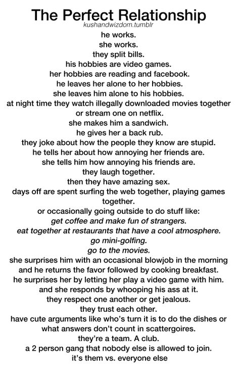 what i need in a relationship