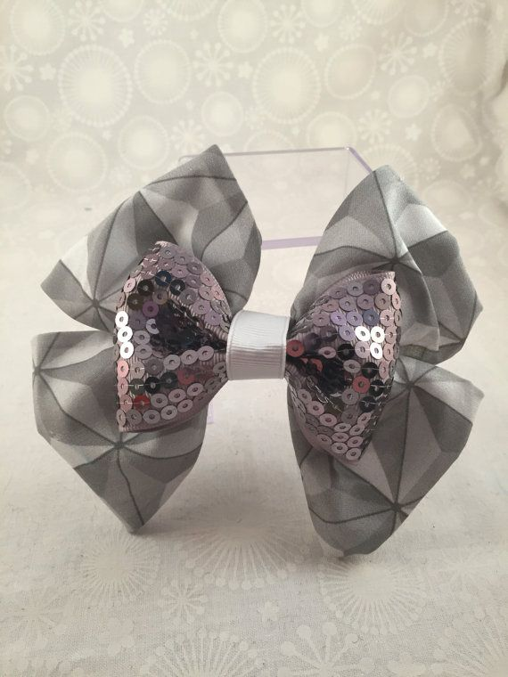 Spaceship Earth  EPCOT inspired bow