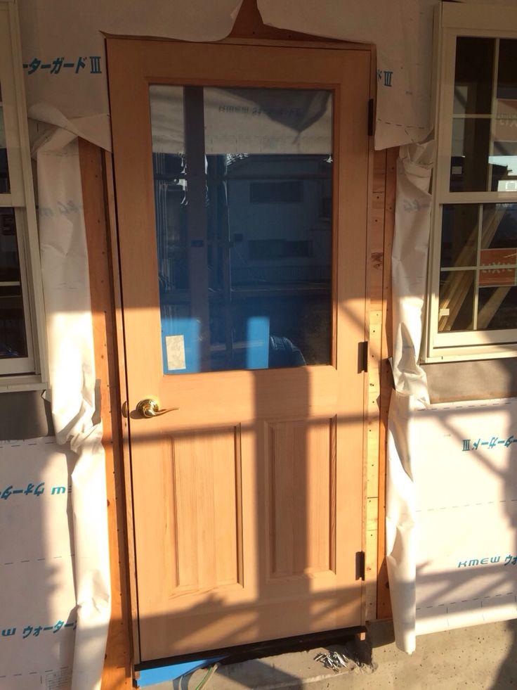 店舗入口ドア装着