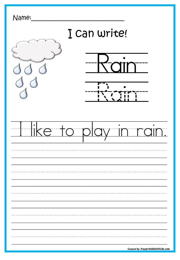 Fun Free Printable Worksheets For Kinder Writing Readiness Printables I Can Write Kinder Writing Kids Worksheets Printables Printable Worksheets