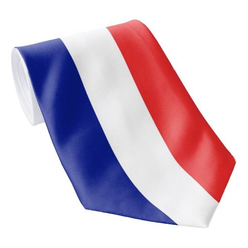 France flag French tie