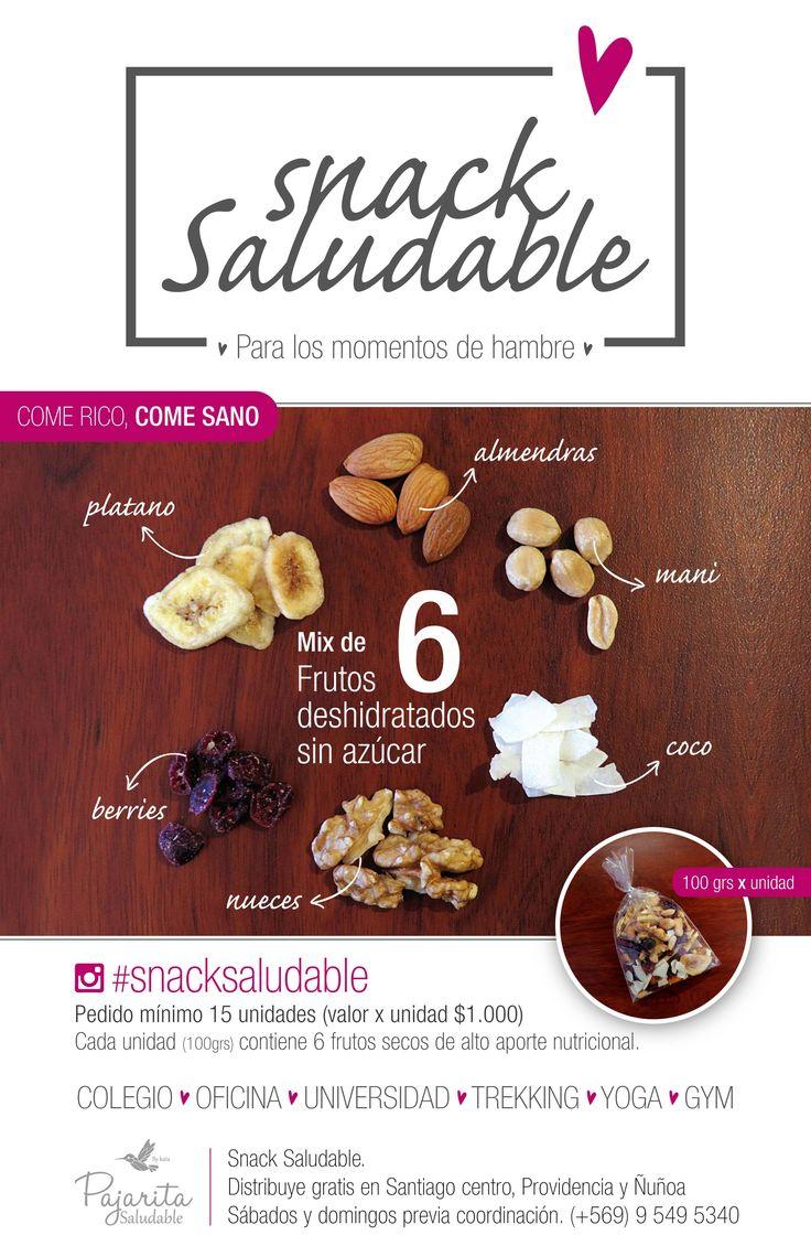 Gráfica promocional para SnackSaludable x Kata Melgarejo para Pajarita Saludable