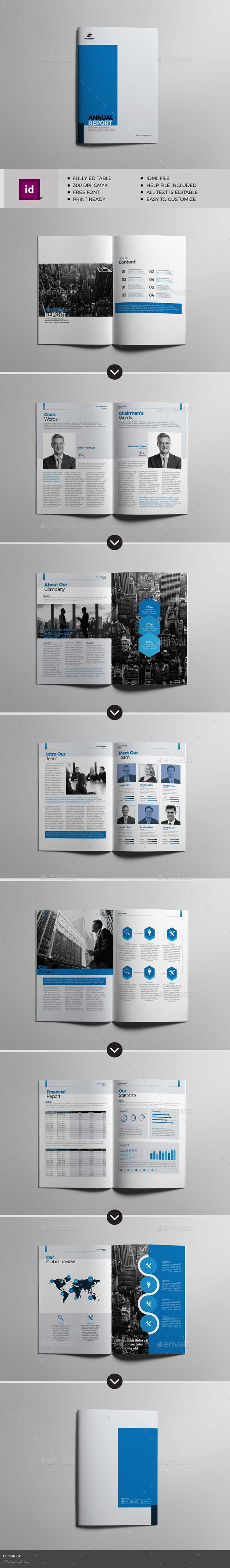 Annual Report — #company brochure #design • Download ➝ https://graphicriver.net/item/annual-report/21220226?ref=pxcr