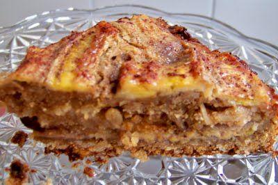 Receita Torta de banana integral