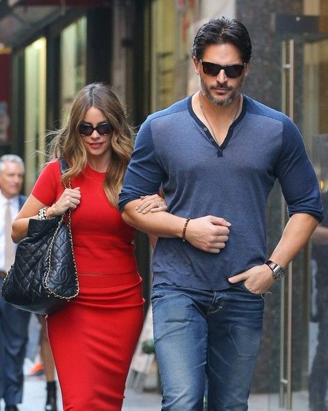 Couple Sofia Vergara and Joe Manganiello walked arm-in-arm while out and about in NYC.