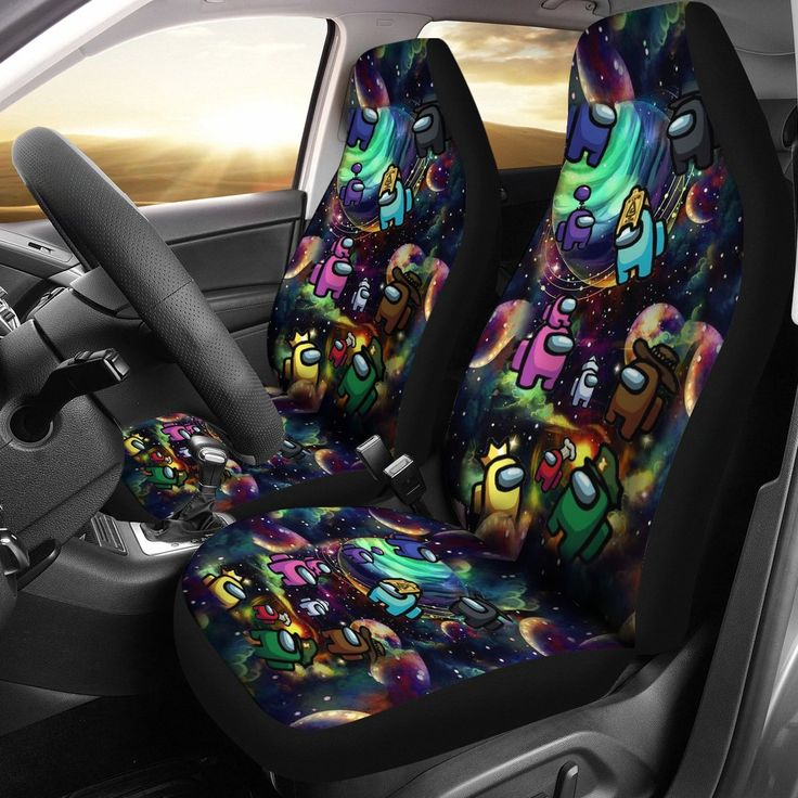 Whether you cover an entire room or a single wall, wallpaper will update your space and tie your home's look. Galaxy Among Us Art Car Seat | Car art, Car seats, Among
