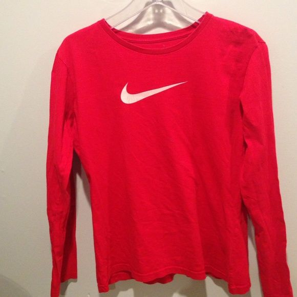 Woman's Nike Shirt Woman's Nike TShirt / Sz. Lg. But Fits Like A Med. / Third Pic Shows It Has Been Through Dryer , Priced Accordingly Nike Tops Tees - Long Sleeve