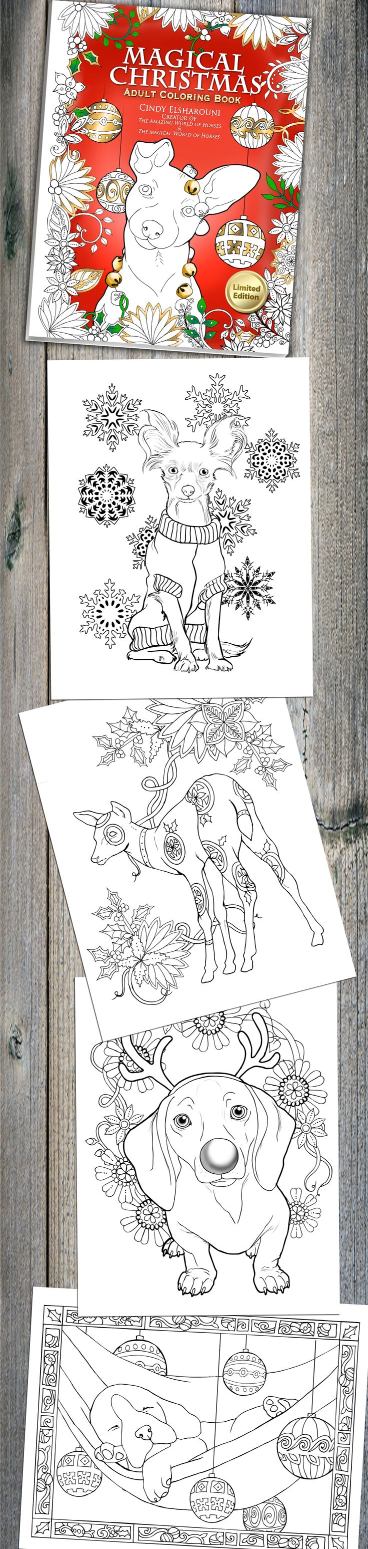 A fun magic coloring book amazon - 30 Pages Of Festive Animals To Color Magical Christmas Adult Coloring Book Is Now On