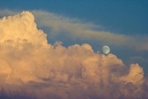 Moon Over Cloud Mountains photo by Phil Peck