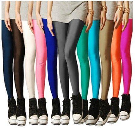 DOĞU ÖRGÜ B52 2013 çorap şeker PARLAK neon renk tozluk kadınların yüksek gergin yoga pantolon üst satış $5.33