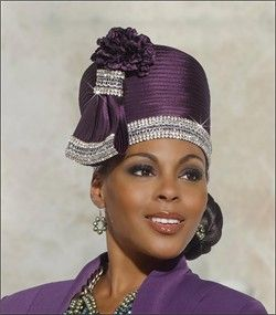 African Americans Elegant Top Selling Ladies Church Hat in Majesty Color by Donna Vinci H2139